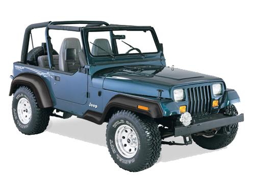 Bushwacker Spatborden Extend-A-Flares voor Jeep Wrangler YJ