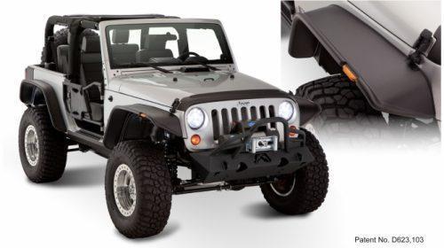 Bushwacker Fender Flares vlakke stijl - Jeep Wrangler JK 2 deurs