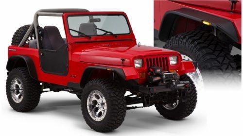 Bushwacker Spatborden vlakke stijl voor Jeep Wrangler YJ