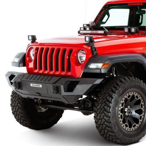 Go Rhino voorbumper Trailline volle breedte recht - Jeep Wrangler JK