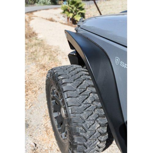 Go Rhino brede stalen voorspatborden Trailline 6 inch - Jeep Wrangler JK 07-18