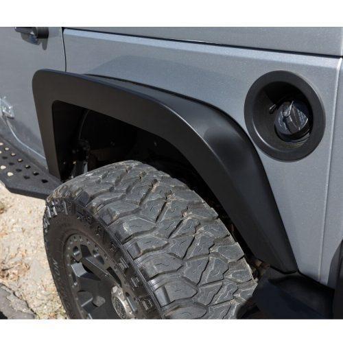 Go Rhino brede stalen achterspatborden Trailline 6 inch - Jeep Wrangler JK 07-18
