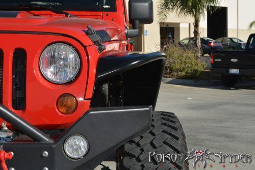 POISON SPYDER brede voor spatborden aluminium - Jeep Wrangler JK