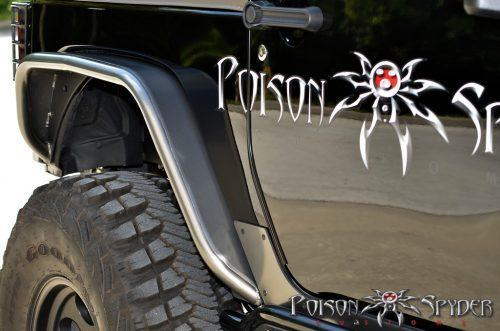 POISON SPYDER achter Crusher Flares aluminium- Jeep Wrangler JK