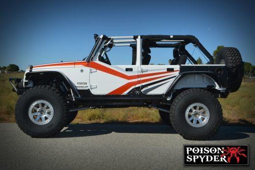 POISON SPYDER fenders achter zwart - Jeep Wrangler JK