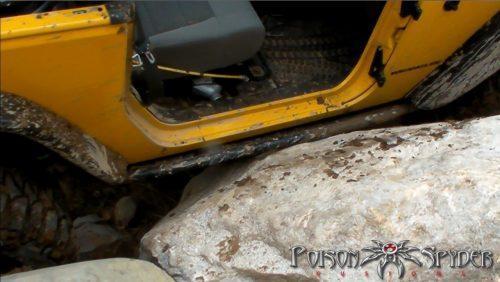 POISON SPYDER side bars met stalen sliders - Jeep Wrangler JK 07-10