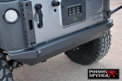POISON SPYDER achterbumper BFH II met D-ringlipjes Staal - Jeep Wrangler JK