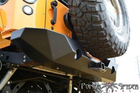 POISON SPYDER achterbumper staal Rock Brawler II met bandendrager - Jeep Wrangler JK
