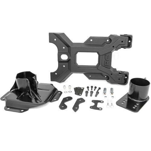Rough Country HD scharnierende reservewieldrager - Jeep Wrangler JK 07-18
