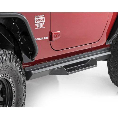 Rough Country side steps DS2 - Jeep Wrangler JK 07-18 2 deurs