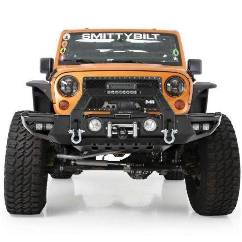Smittybilt voorbumper Stryker Modulair met bullbar - Jeep Wrangler JK 07-18