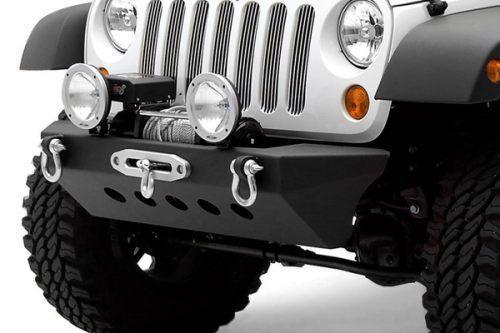 SMITTYBILT Classic Rock Crawler stalen voorbumper met lierplaat - Jeep Wrangler JK