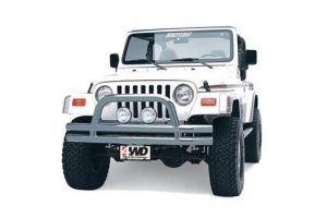Smittybilt Buisvormige voorbumper RVS met hoepel - Jeep Wrangler YJ