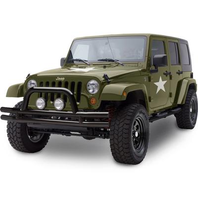 SMITTYBILT Buisvormige voorbumper zwart glans - Jeep Wrangler JK