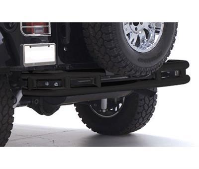 SMITTYBILT buisvormige achterbumper glanzend zwart - Jeep Wrangler JK